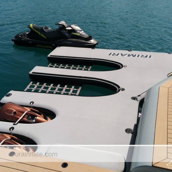 Inflatable jet ski docks